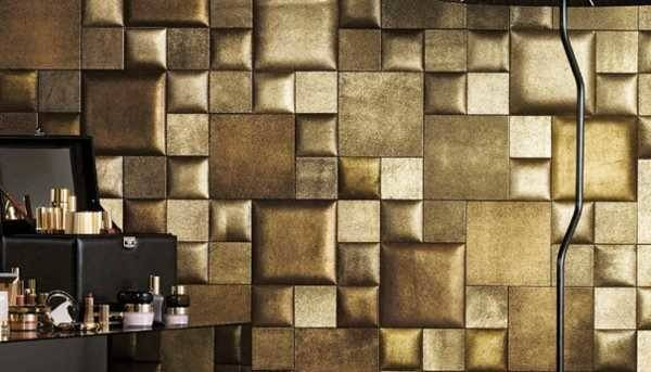 Leather Wall Tiles Decorative Paneling Adding Chic Designs