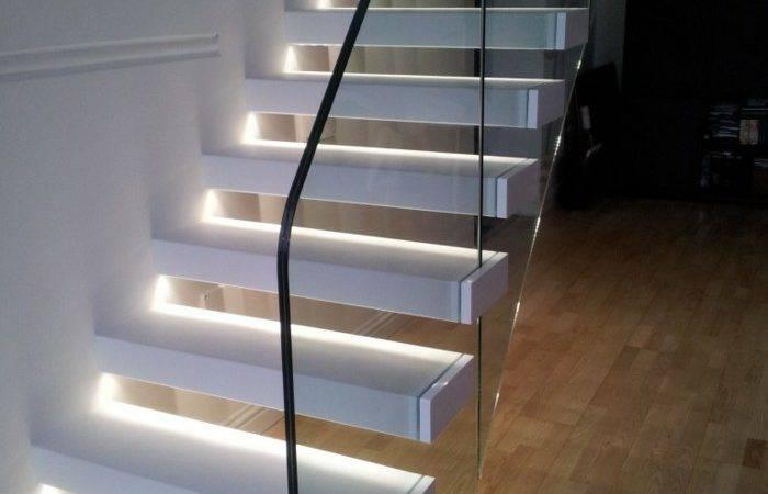 Led Stair Lighting Glass Staircase Railing Interior Design