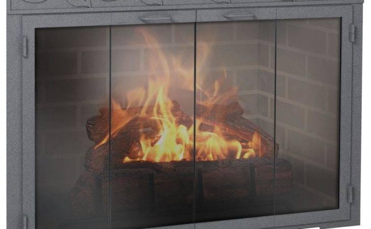 Legend Rectangle Custom Made Glass Door Masonry Fireplaces