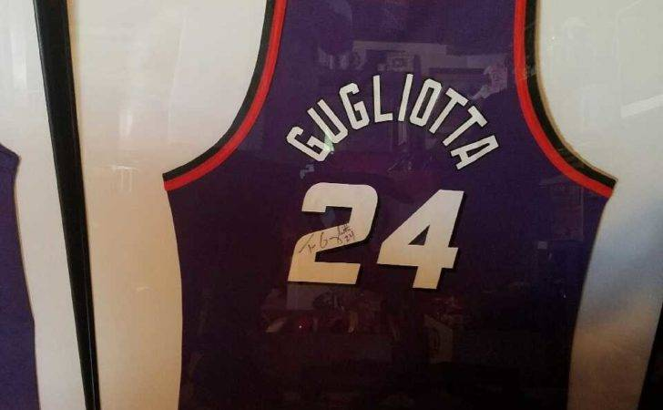 Leisure Games Phoenix Suns Basketball Jerseys Framed Autographed