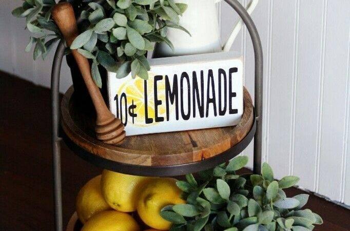 Lemon Decorations Kitchen Decorate Tier Tray