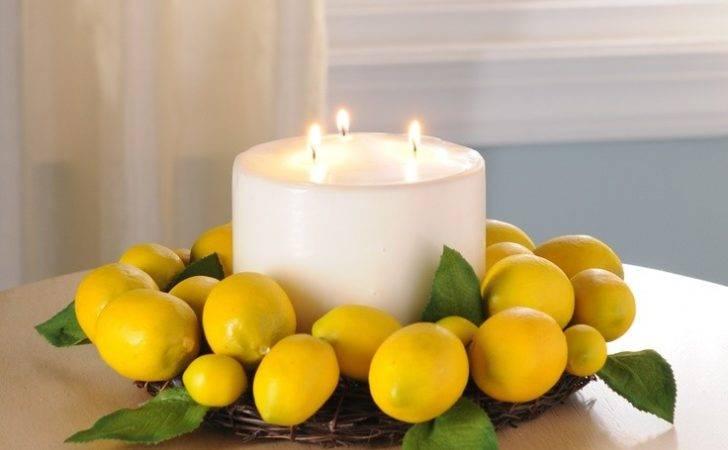 Lemon Decorations Kitchen Mini Wreath