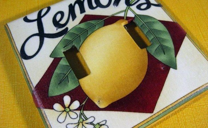 Lemon Kitchen Decor Switchplate Theme Pinterest