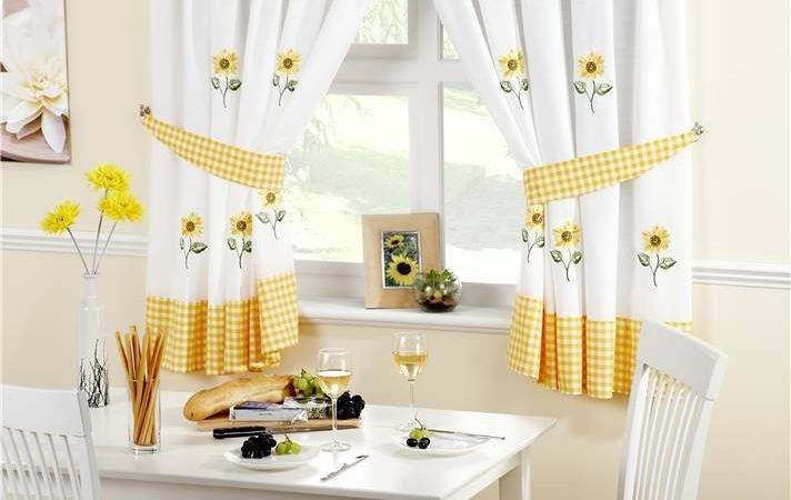 Lemon Sunflower Kitchen Curtains Pelmet Cafe Panels