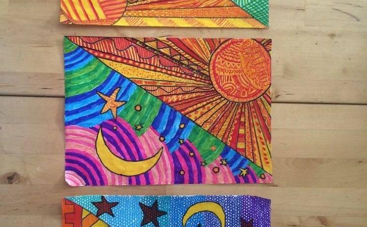 Lessons Art Class School Warm Cool Color Grade Ideas