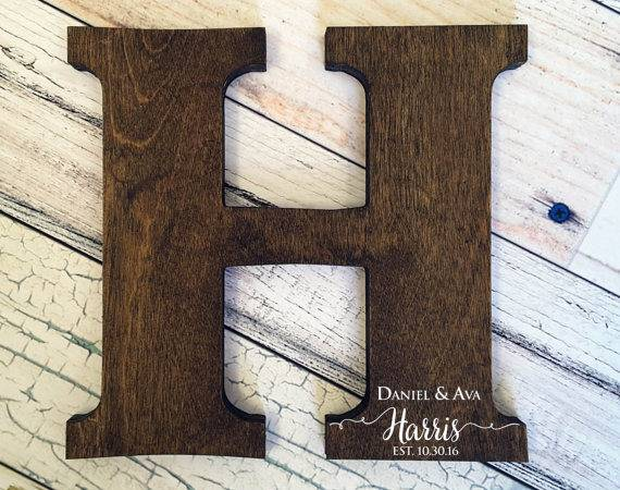 Letter Guest Book Distressed Sign Wood Letters Wedding