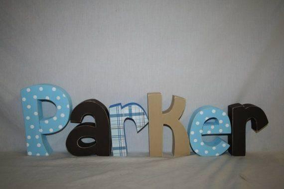 Letter Wood Letters Nursery Wall Custom