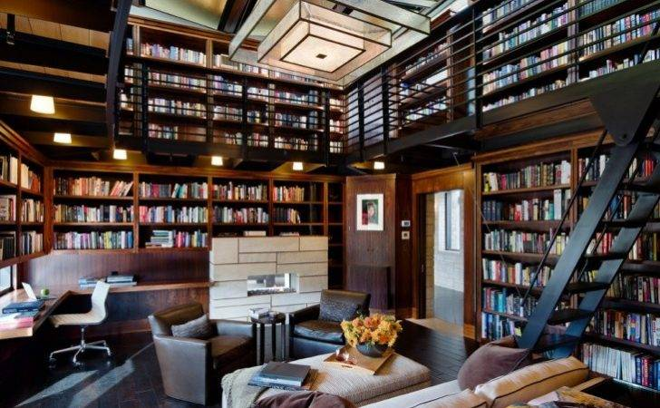 Library Designs Home Office Modern Interior