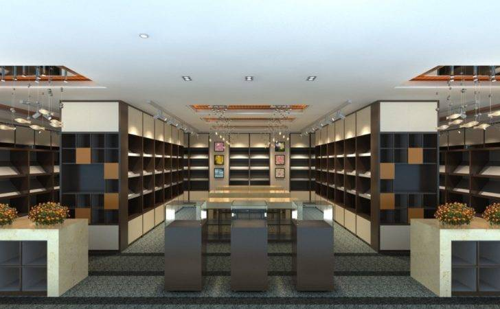 Library Interior Design Decoration Wood Ceiling