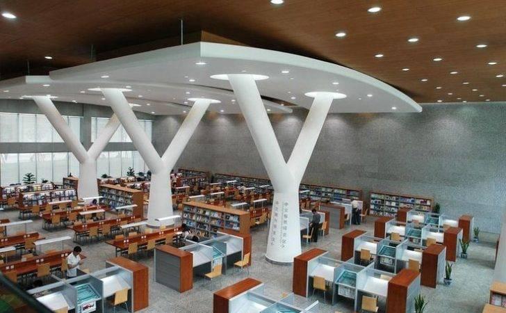 Library Interior Design Place Study Modern School