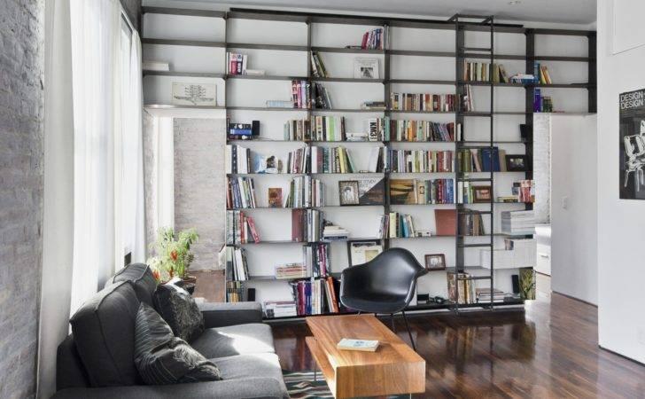 Library Ladder Bookshelf Custom Bookshelves