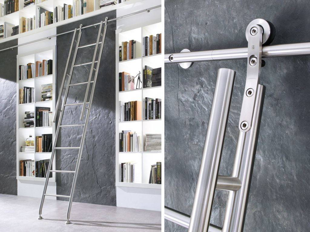 Library Ladders Modern Stainless World Finest