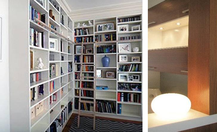 Library Unit Adjustable Shelving Moulded Doors Hardwood