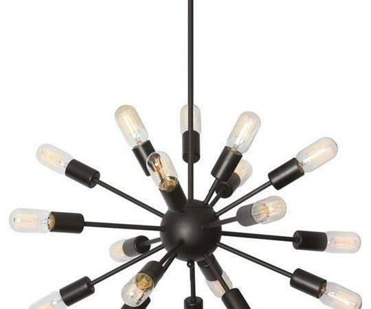 Light Bulb Satellite Chandelier Black Chandeliers Houzz