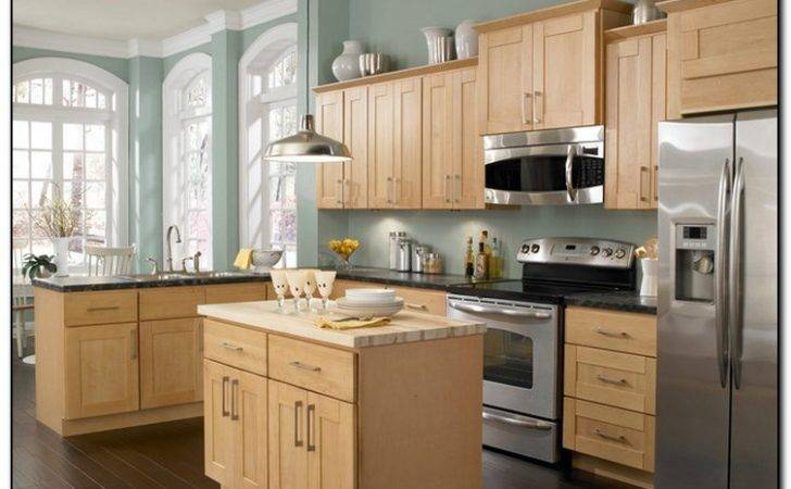 Light Color Theme Kitchen Cabinets Design Home Cabinet