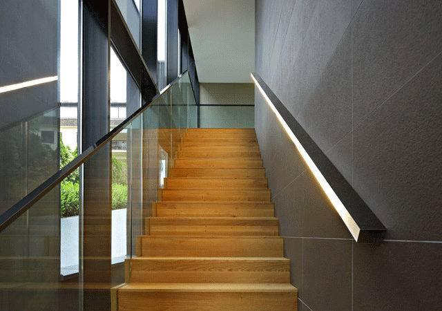 Light Handrail Stair Pinterest Lighting Led Stairs