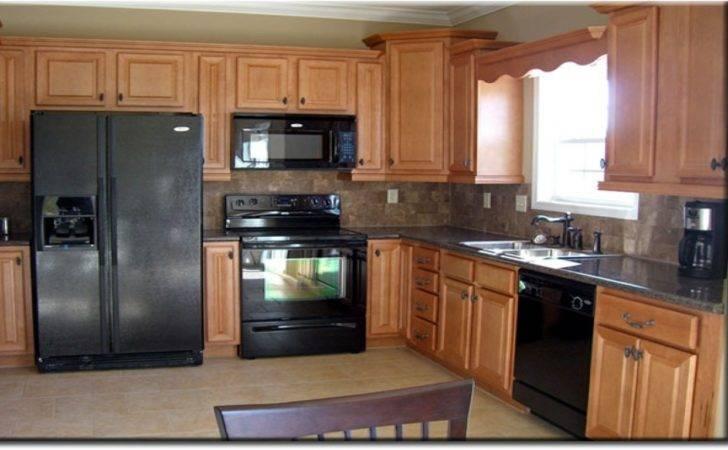 Light Oak White Appliances Wood Floor Slate Counter Top Some