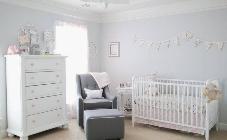Light Pink Gray Baby Girl Nursery