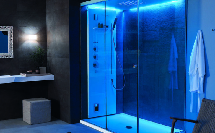 Light Shower Enclosure Features Cromoexperience Function Offer