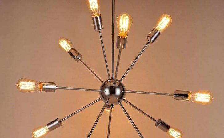Light Silver Modern Satellite Style Hanging Chandelier Nickel Ebay