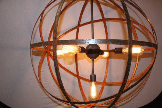 Light Sockets Wine Barrel Orb Chandelier Hanging Sphere