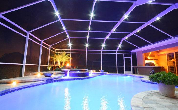 Light System Pool Patio Screen Enclosures Cage Lighting Besha