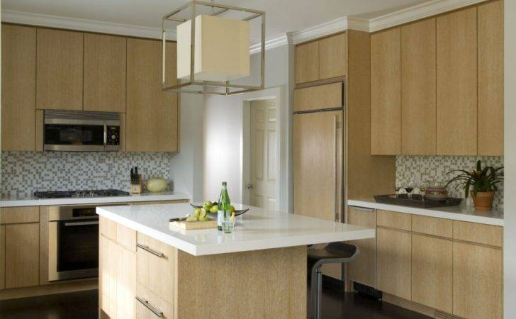 Light Wood Kitchen Cabinets Contemporary Cabinet Within