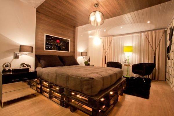 Lighted Pallet Bed Frame Origins Pinterest