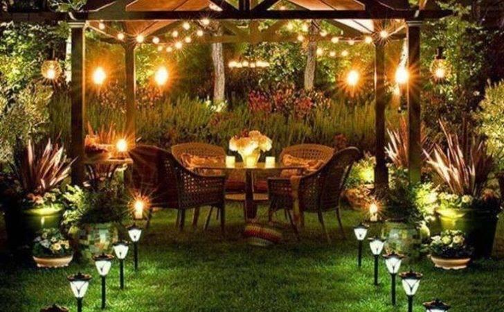 Lighting Gazebo Landscape Outdoor Decor Patio Ideas