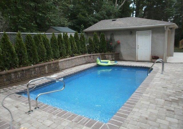 Likewise Backyard Pool House Garage Patio Design