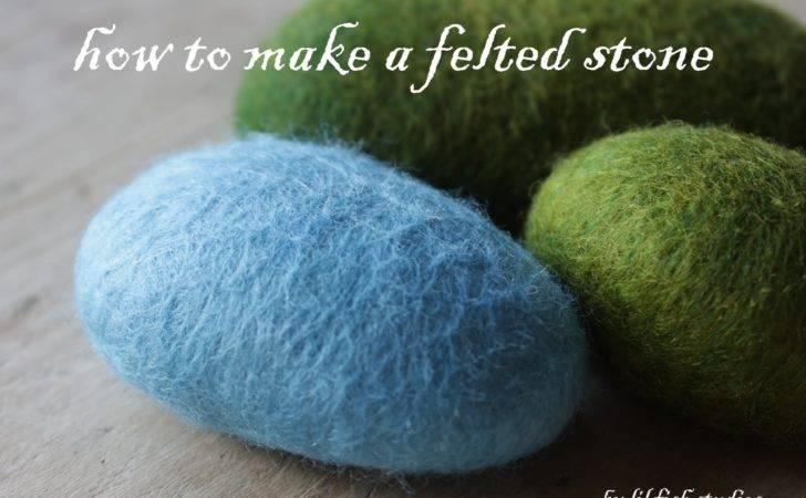 Lil Fish Studios Make Felted Stone
