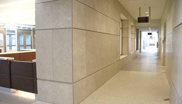 Limestone Interior Wall Stone Creates Presence Durham Courthouse