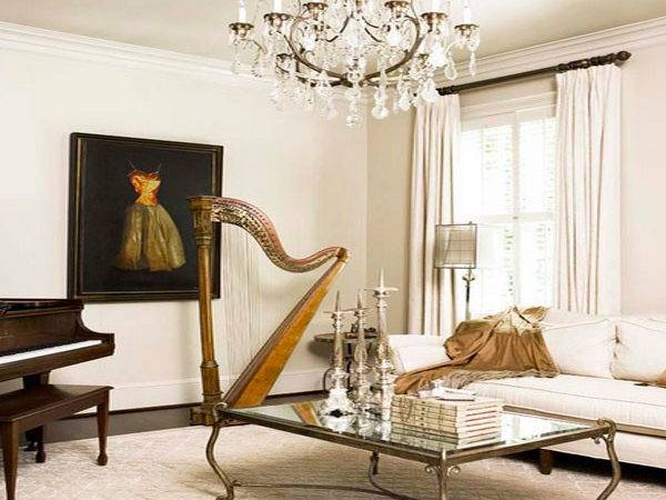 Linda Mcdougald Design Neoclassical Decor Harp
