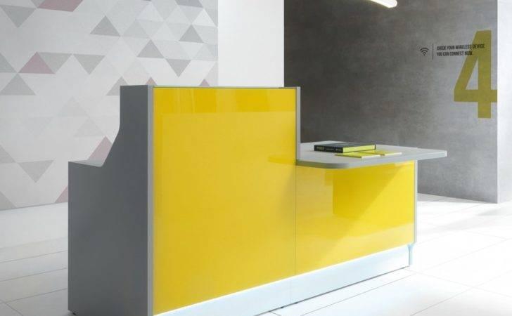 Linea Linear Countertop Reception Desk Modern Manhattan