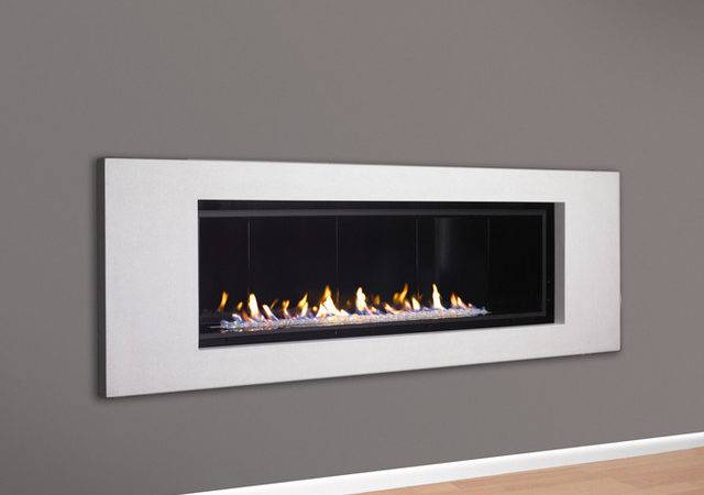 Linear Direct Vent Fireplace Contemporary Indoor Fireplaces
