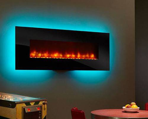 Linear Wall Mount Electric Fireplace Indoor Fireplaces
