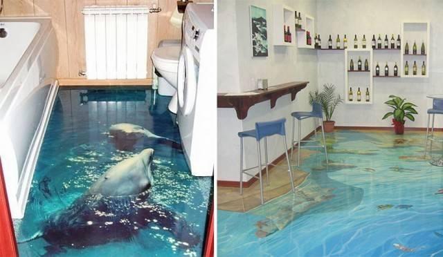 Liquid Floors They Really Look Like Water Pee Wee Blog