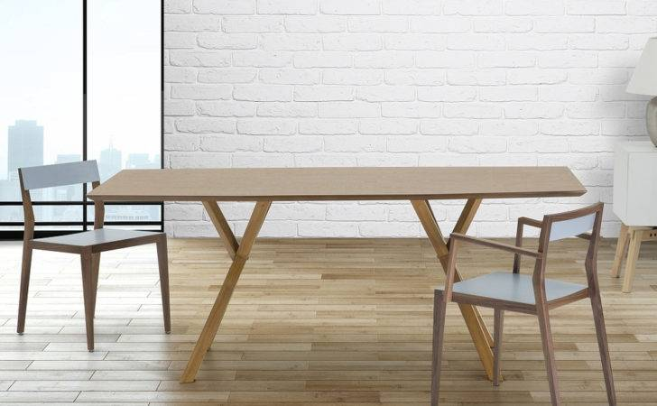 Lisala Modern Dining Table Pine Wood Tables