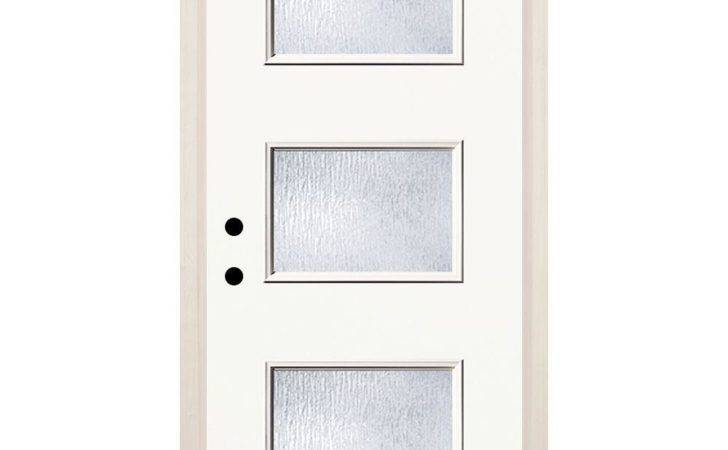 Lite Rain Glass Painted Fiberglassprehung Front Door Brickmould