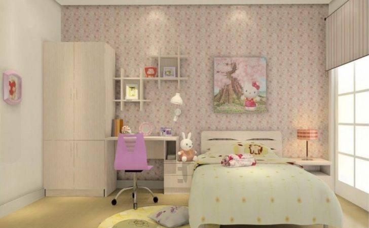 Little Girl Room Wall Interior