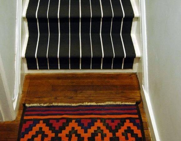 Little Green Notebook Diy Stair Runner Stairs Pinterest