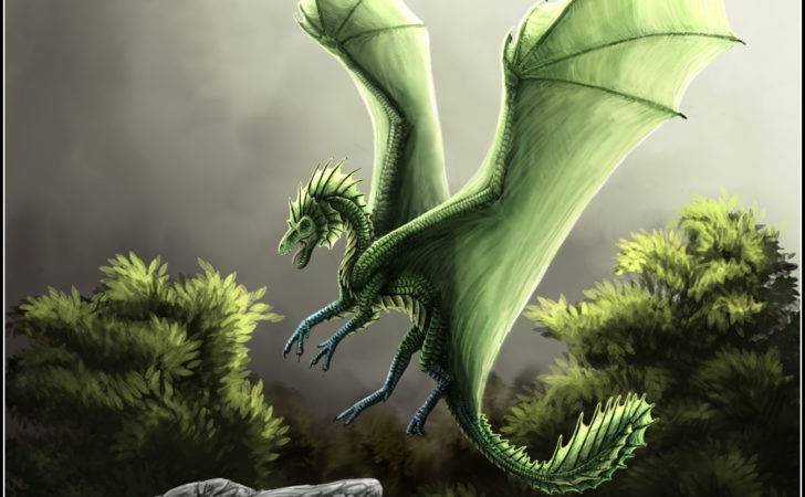 Little Green Young Earth Dragon She Has Now Grown