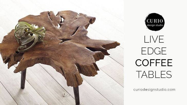 Live Edge Coffee Tables Curio Design Studio