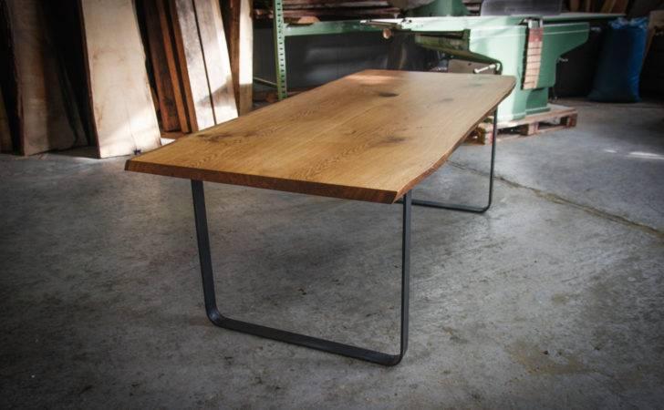Live Edge Dark Old Oak Dining Room Table Hardmandesignbuild