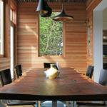 Live Edge Dining Table Room Contemporary Accent Wall Area
