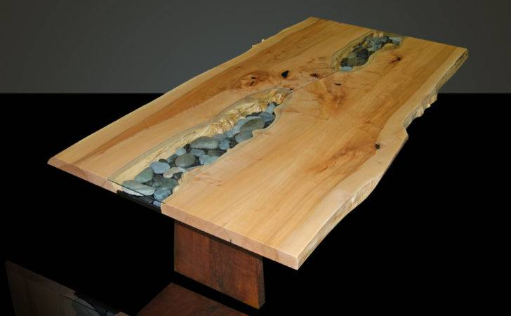 Live Edge Slab Dining Table Wood