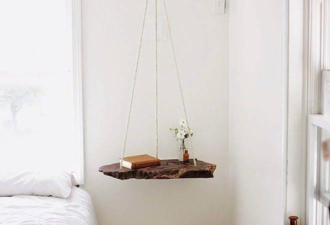 Live Edge Wood Instead Board Make Hanging Shelf