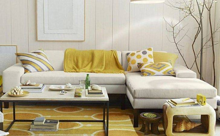 Living Room Adding Yellow Accent Exquisite Without
