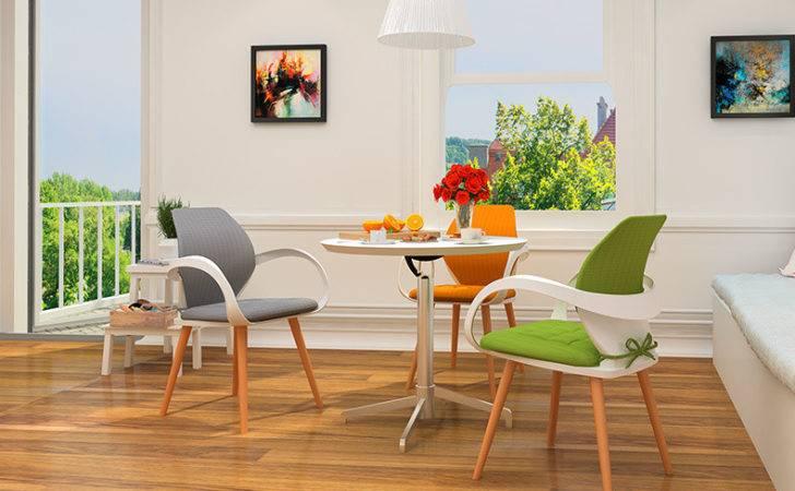 Living Room Chair Tea Coffee House Stool Wood Leg Orange Color Green