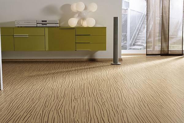 Living Room Cork Parquet Flooring Clean